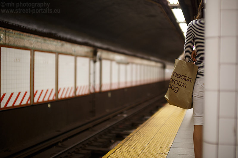 medium brown bag - nyc underground station lexington ave
