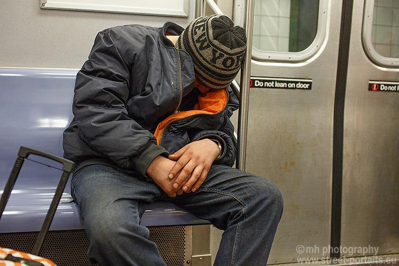 underground sleep - nyc underground
